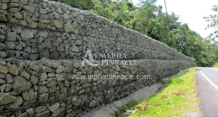 Gabion Retaining Wall At Jalan Sungai Lalang Sungai Lui